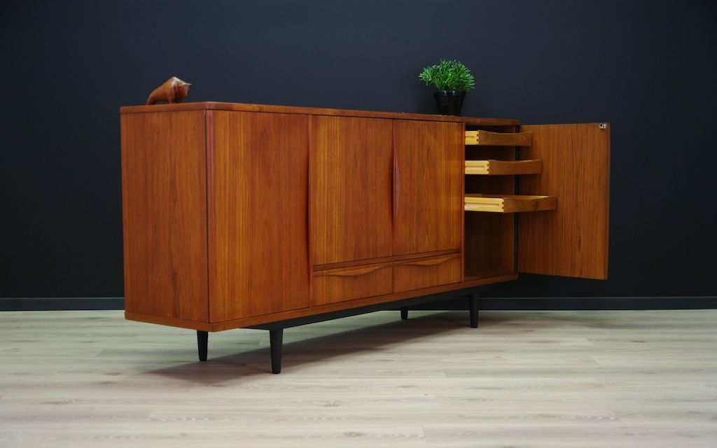 danish teak sideboard from lyby m bel 1960s for sale at. Black Bedroom Furniture Sets. Home Design Ideas