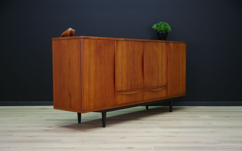 d nisches teak sideboard von lyby m bel 1960er bei pamono. Black Bedroom Furniture Sets. Home Design Ideas