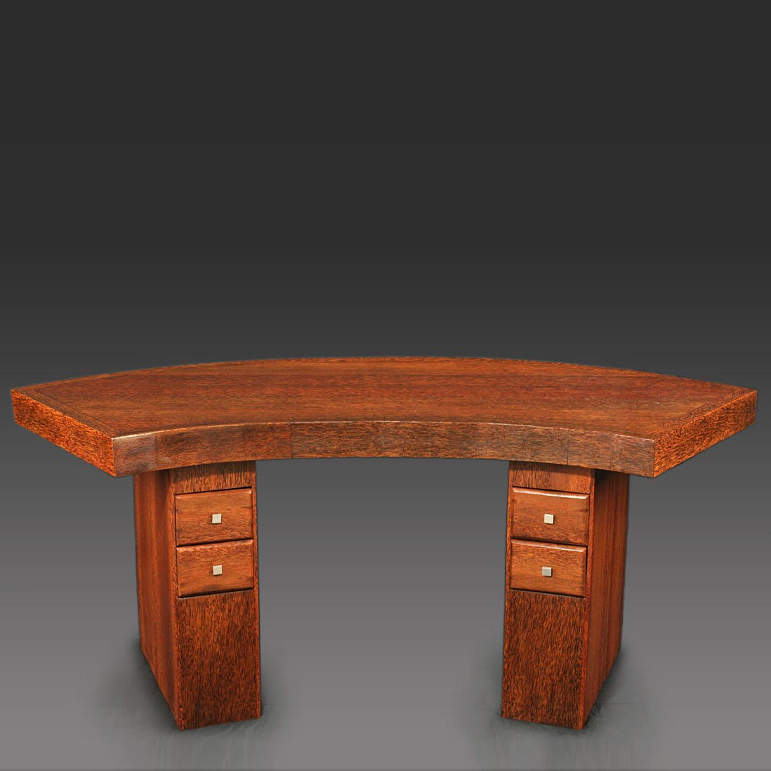 Curved art deco palmwood desk 1930s for sale at pamono for Meuble art deco 1930