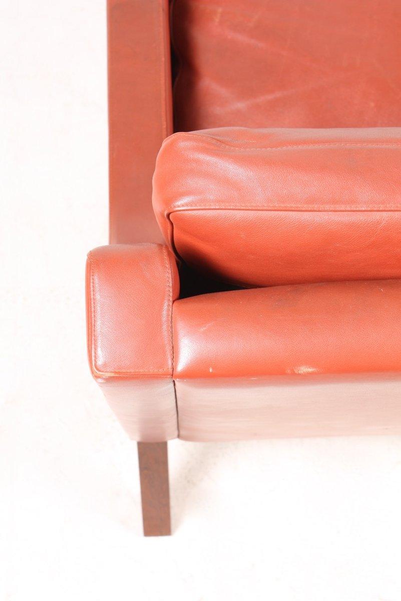 rotes d nisches ledersofa von rud thygesen f r tharms 1970er bei pamono kaufen. Black Bedroom Furniture Sets. Home Design Ideas