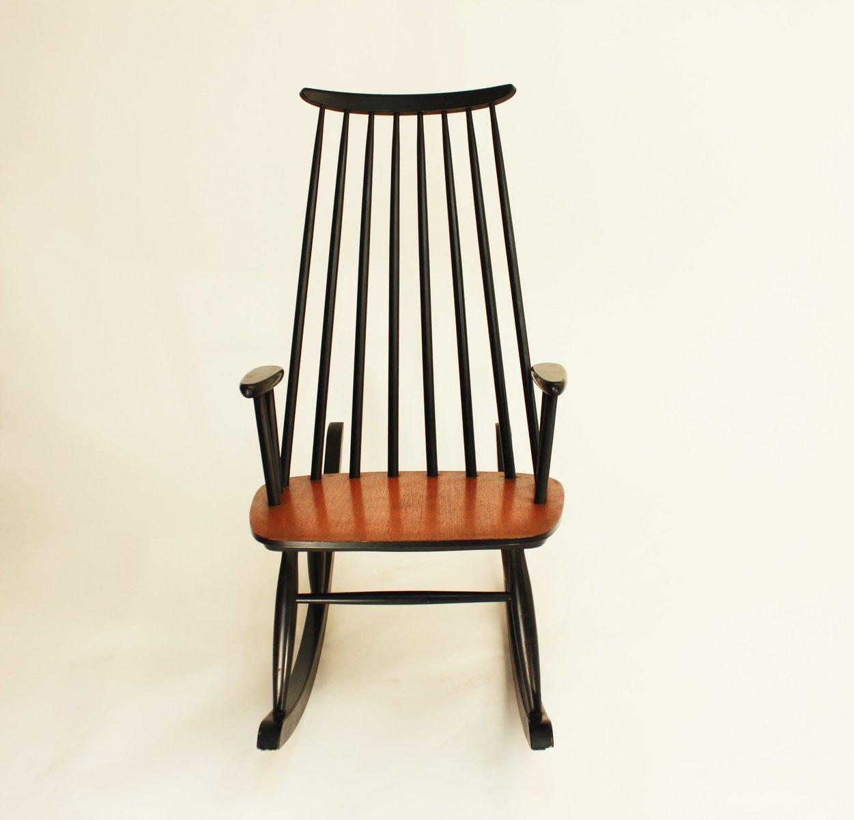 finnischer vintage schaukelstuhl von varjosen puunjalostus f r uusikyl 1960er bei pamono kaufen. Black Bedroom Furniture Sets. Home Design Ideas