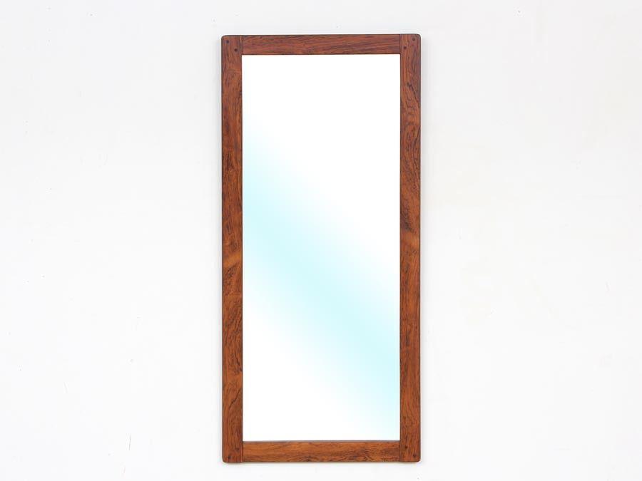 mid century swedish rio rosewood mirror for ab