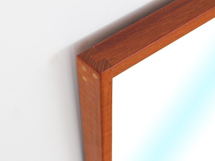 d nischer mid century spiegel mit rahmen aus teakholz von kai kristiansen f r aksel kjersgaard. Black Bedroom Furniture Sets. Home Design Ideas