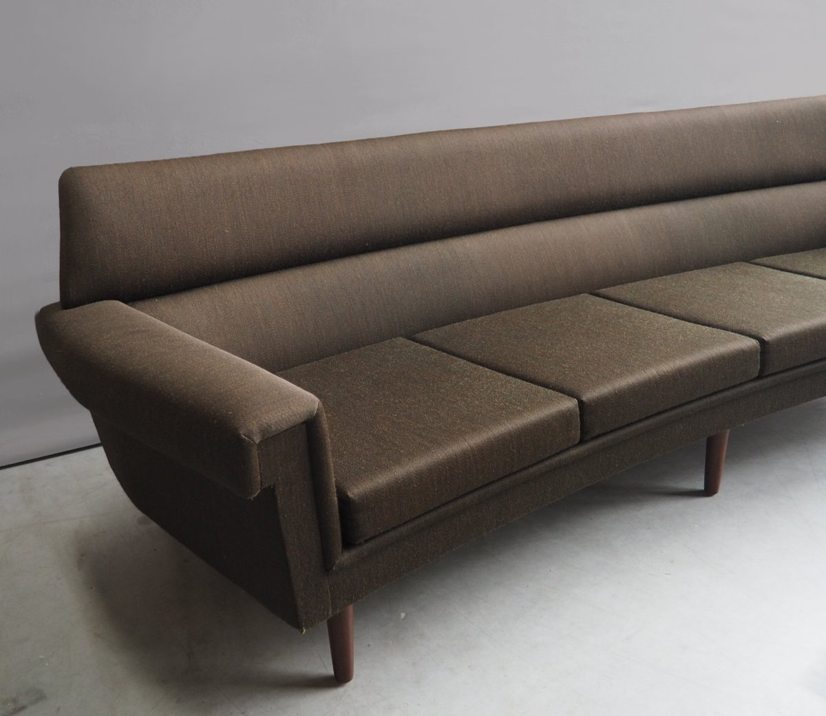 Danish curved sofa armchair set 1950s for sale at pamono for Sofa armchair