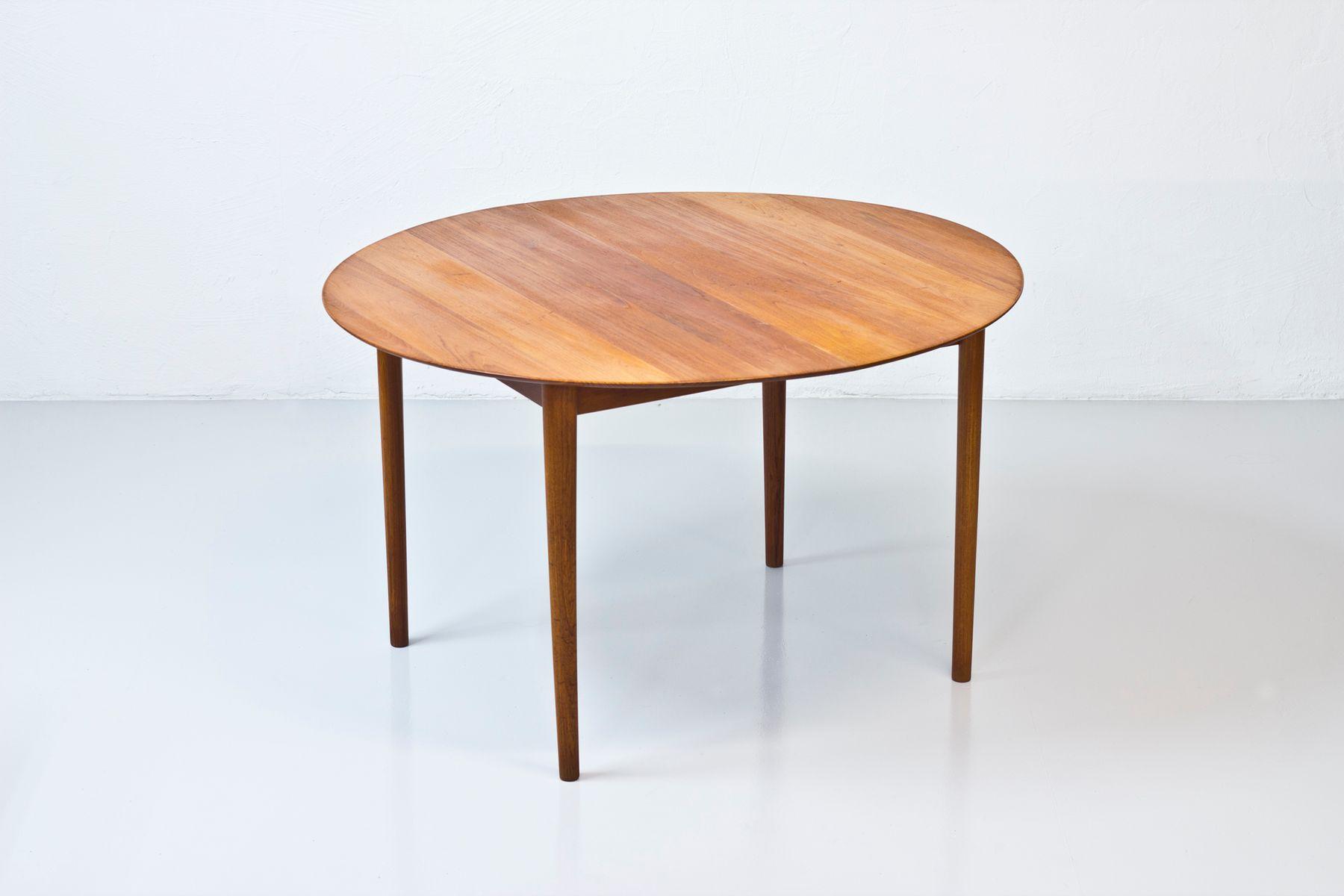 Model 311 Teak Dining Table by Peter Hvidt & Orla M¸lgaard 1950s