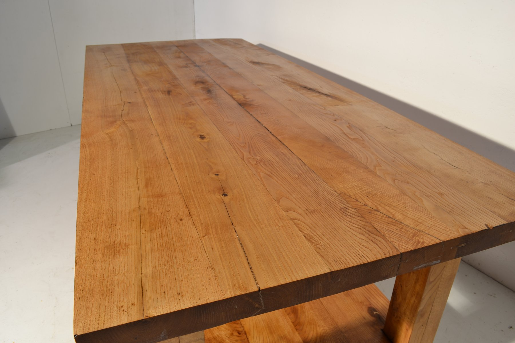 Vintage italian large oak table for sale at pamono for 1 oak las vegas table prices