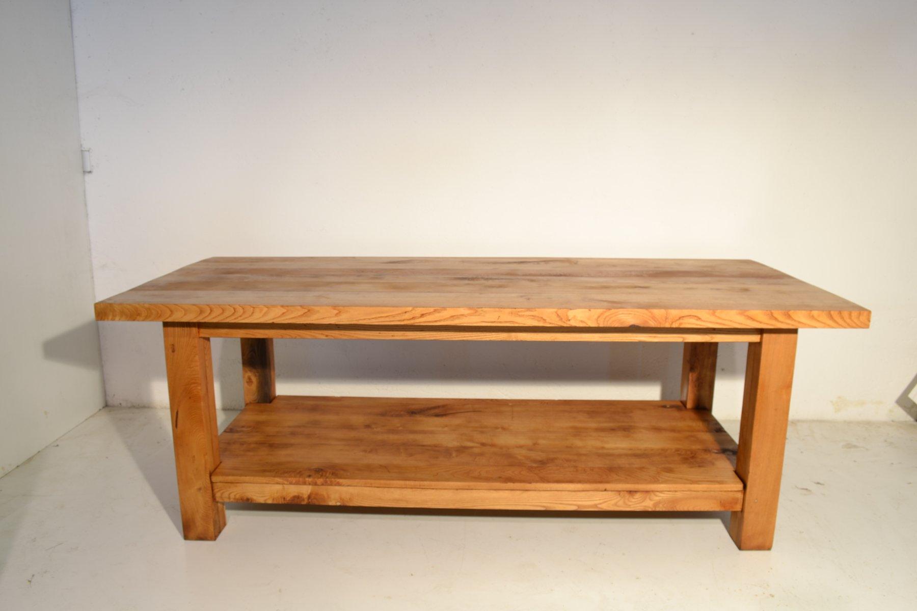 gro er italienischer vintage eichenholz tisch bei pamono kaufen. Black Bedroom Furniture Sets. Home Design Ideas
