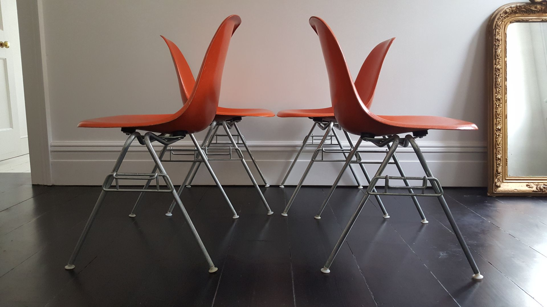 Vintage DSS Fiberglass Shell Chairs by Charles & Ray Eames for