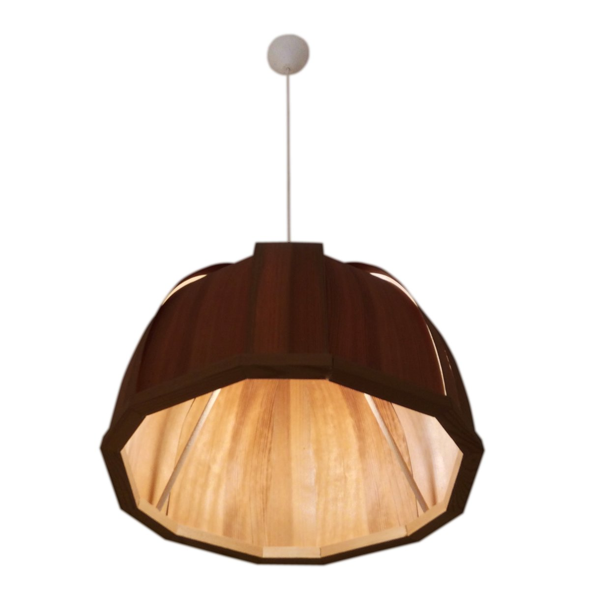 Vintage swedish wooden ceiling lamp for sale at pamono for Ceiling lamp wood