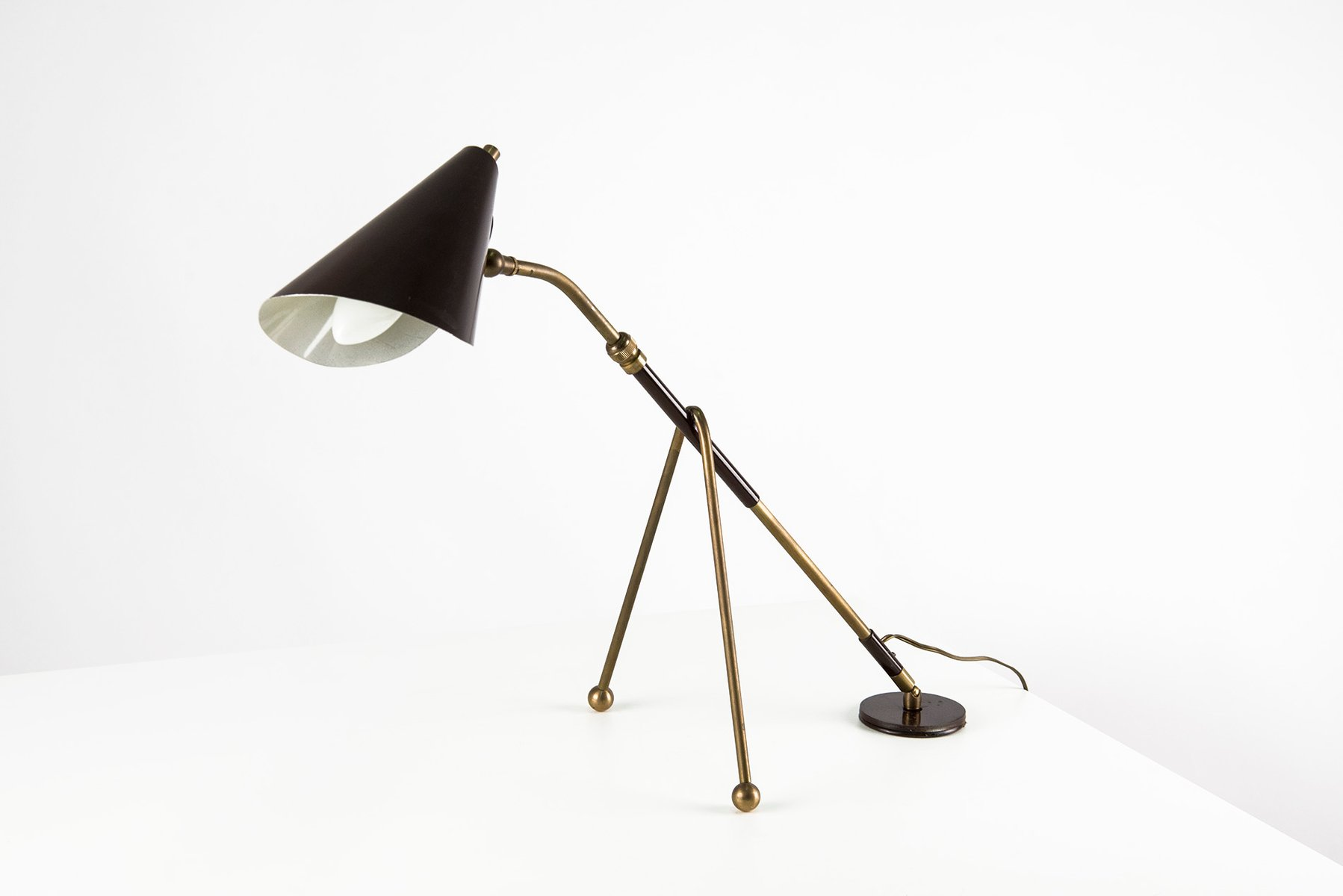 Italian adjustable table lamp 1950s for sale at pamono italian adjustable table lamp 1950s aloadofball Image collections
