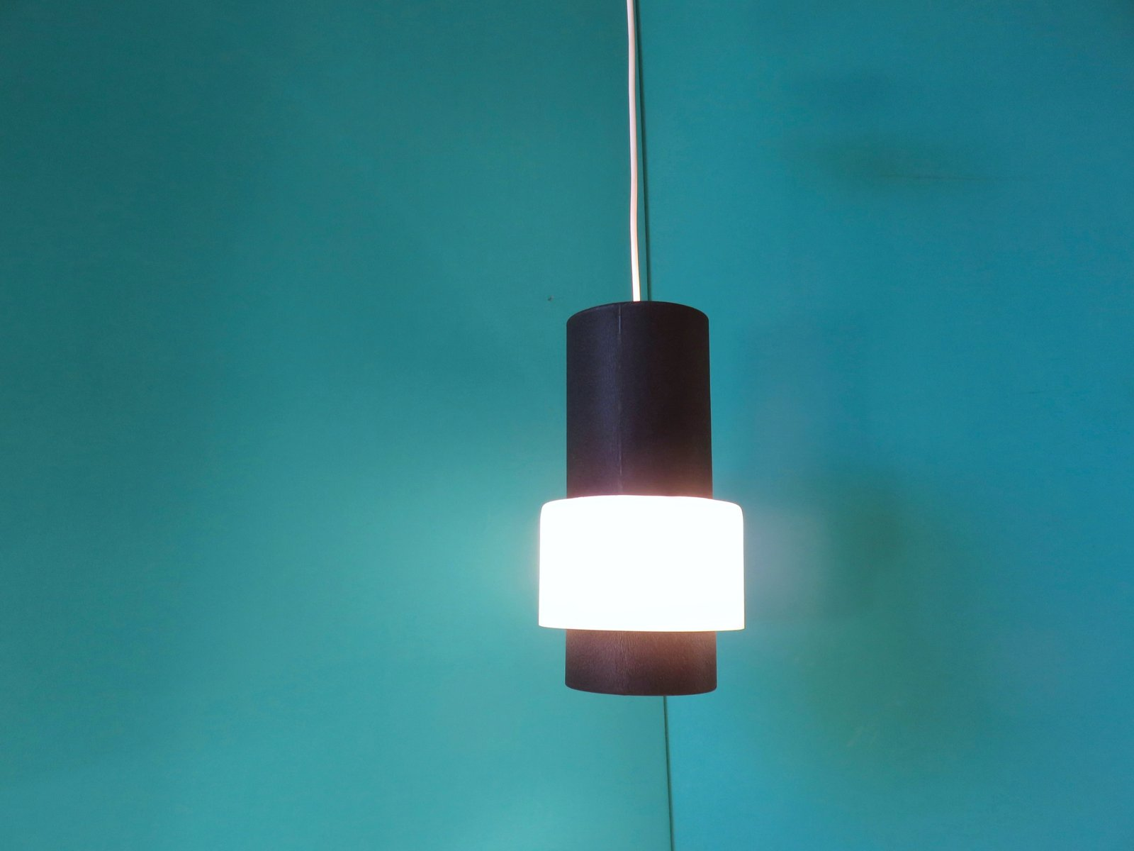 Suspension 4 Lampes Of Dutch Suspension Lamp By Louis Kalff For Philips 1960s