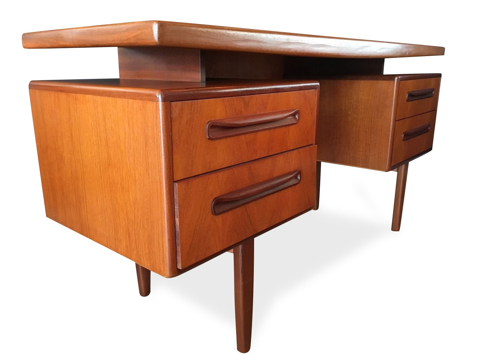 Mid century british fresco floating desk by v b wilkins for Floating desk for sale