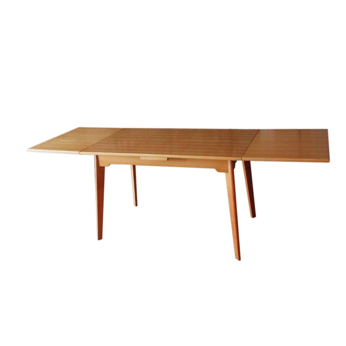 Vintage Beech Extendable Dining Table From Perrenoud 1950s For Sale