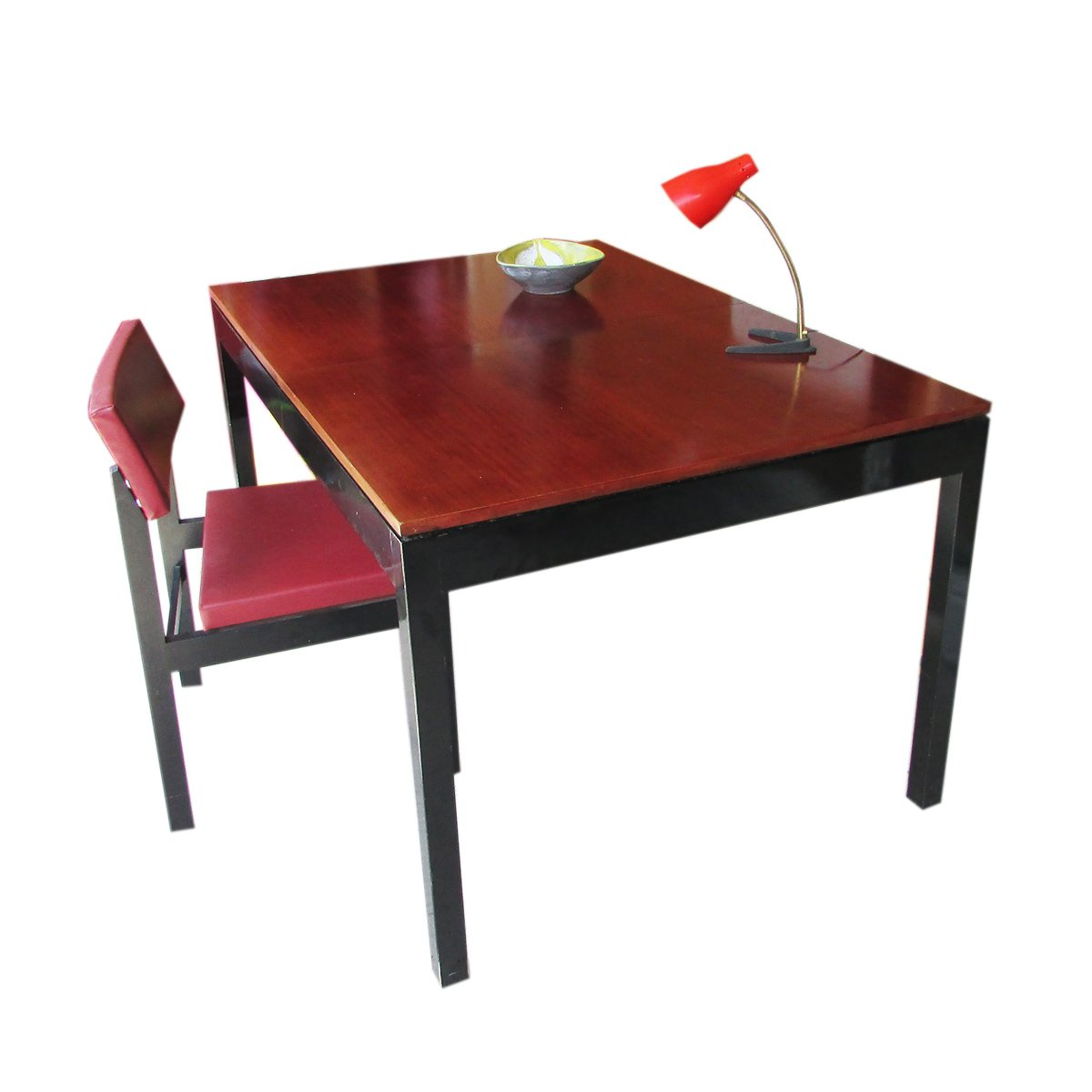 table de salle manger en teck rallonge de bs c suisse 1960s en vente sur pamono. Black Bedroom Furniture Sets. Home Design Ideas