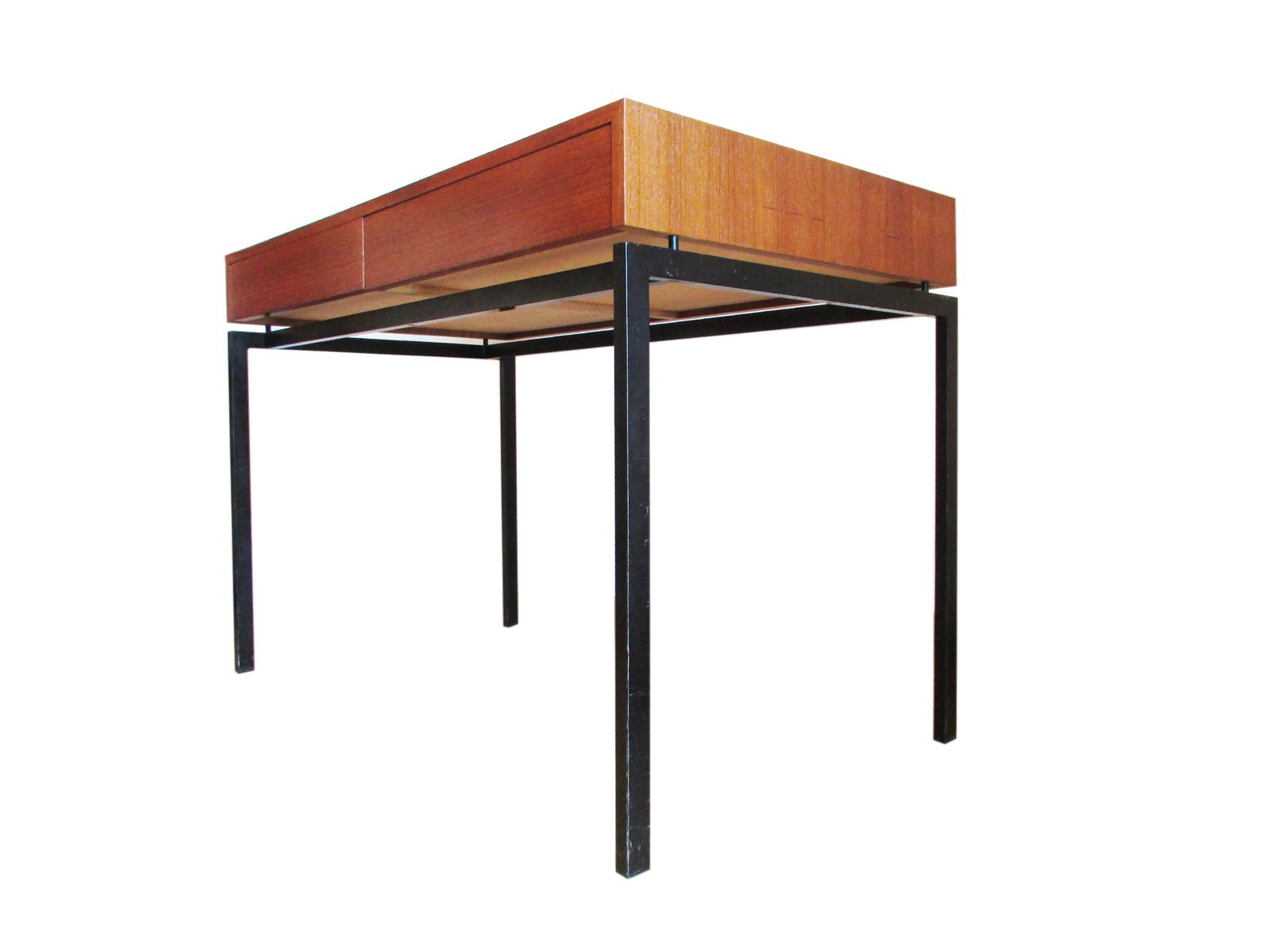 Swiss Minimalist Teak Desk From Zingg Lamprecht For Sale