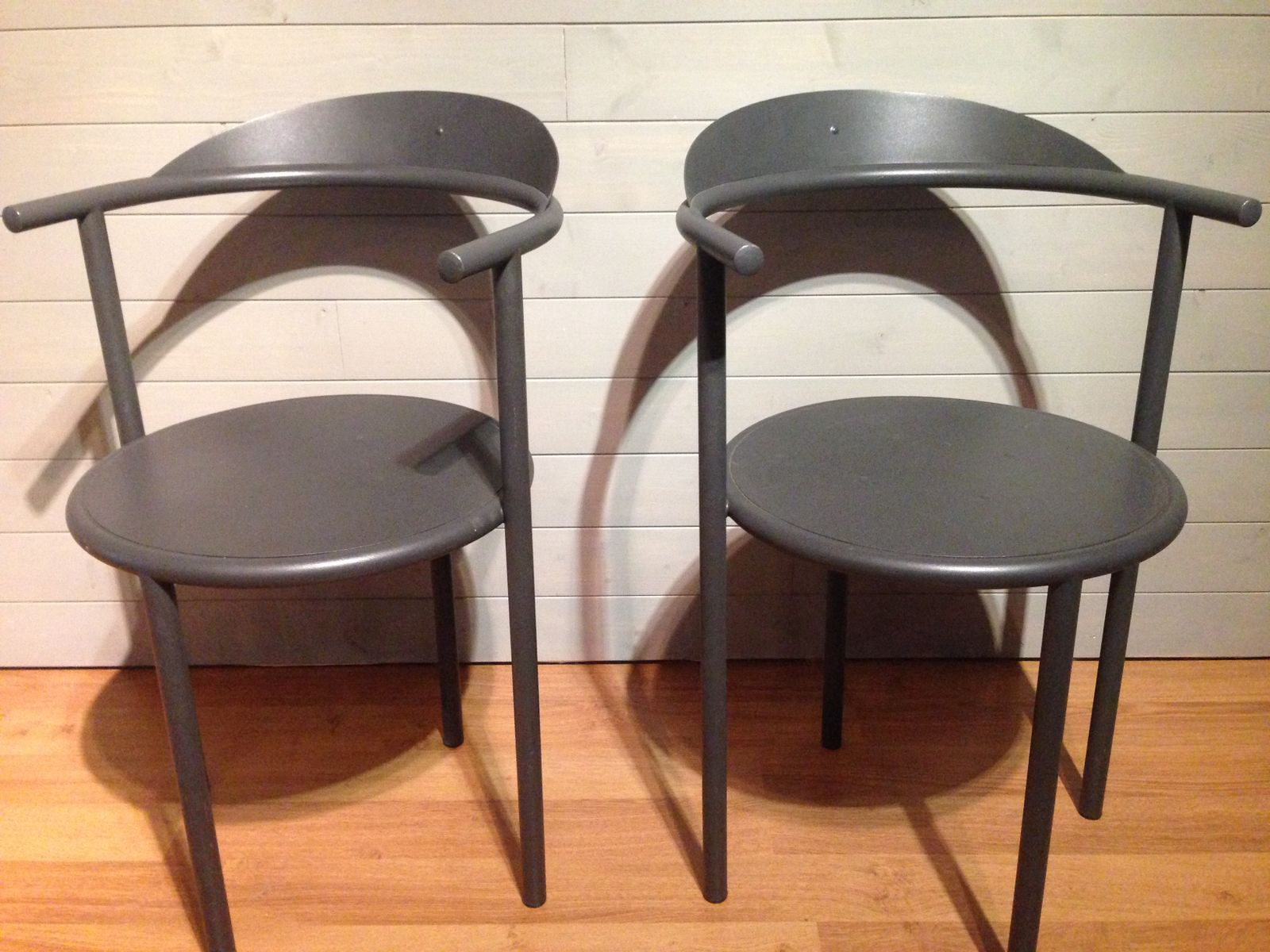 Dining chairs by philippe starck 1987 set of 2 for sale for Chaise de philippe starck