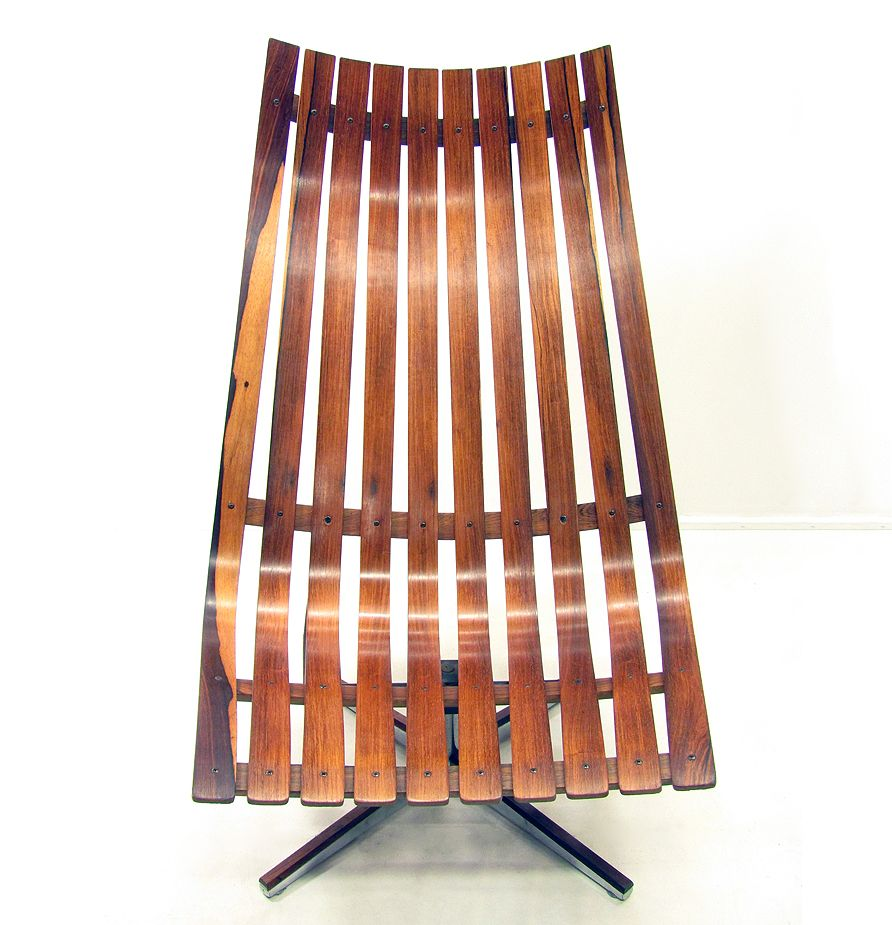 """Norwegian Rosewood """"Scandia"""" Chair by Hans Brattrud for Hove Mobler, 1970s for sale at Pamono"""