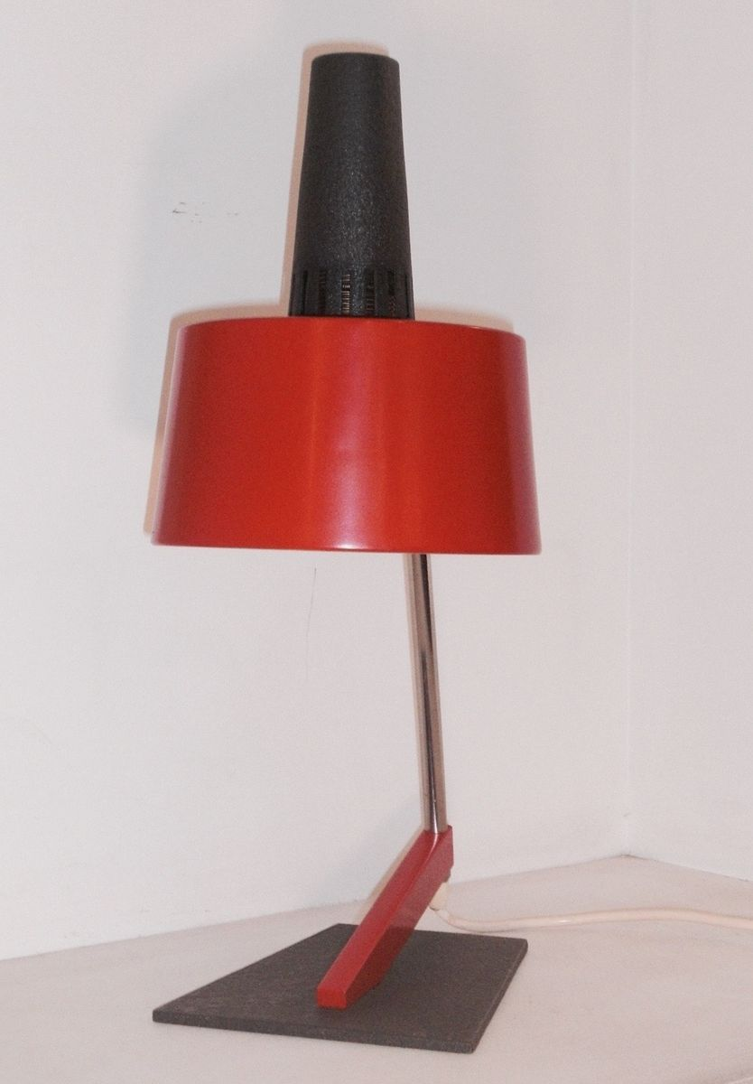 Red Metal Desk Lamp 1960s for sale at Pamono
