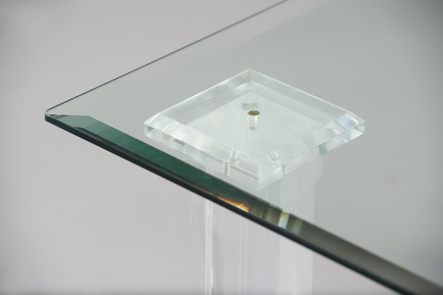 Italienischer plexiglas glas beistelltisch bei pamono kaufen for Beistelltisch plexiglas