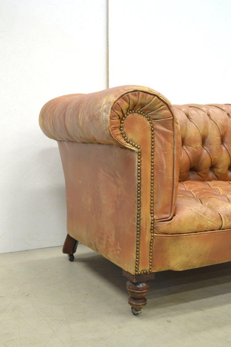 cognacfarbenes englisches vintage zwei sitzer art deco. Black Bedroom Furniture Sets. Home Design Ideas