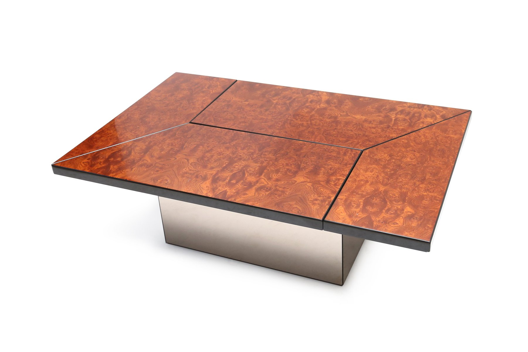 Burl bar coffee table by paul michel 1970s for sale at pamono - Table basse roche bobois ...