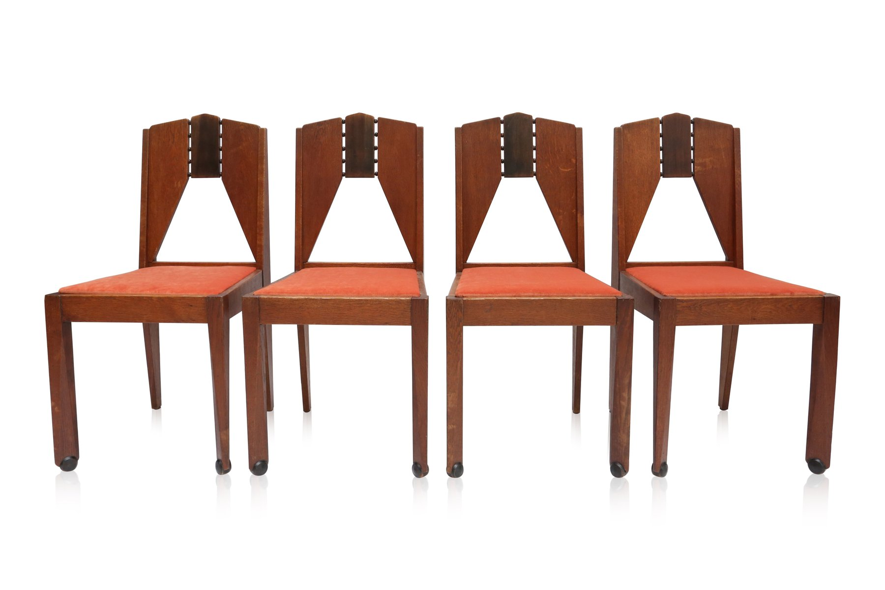 Amsterdam School Chairs 1930s Set of 4 for sale at Pamono