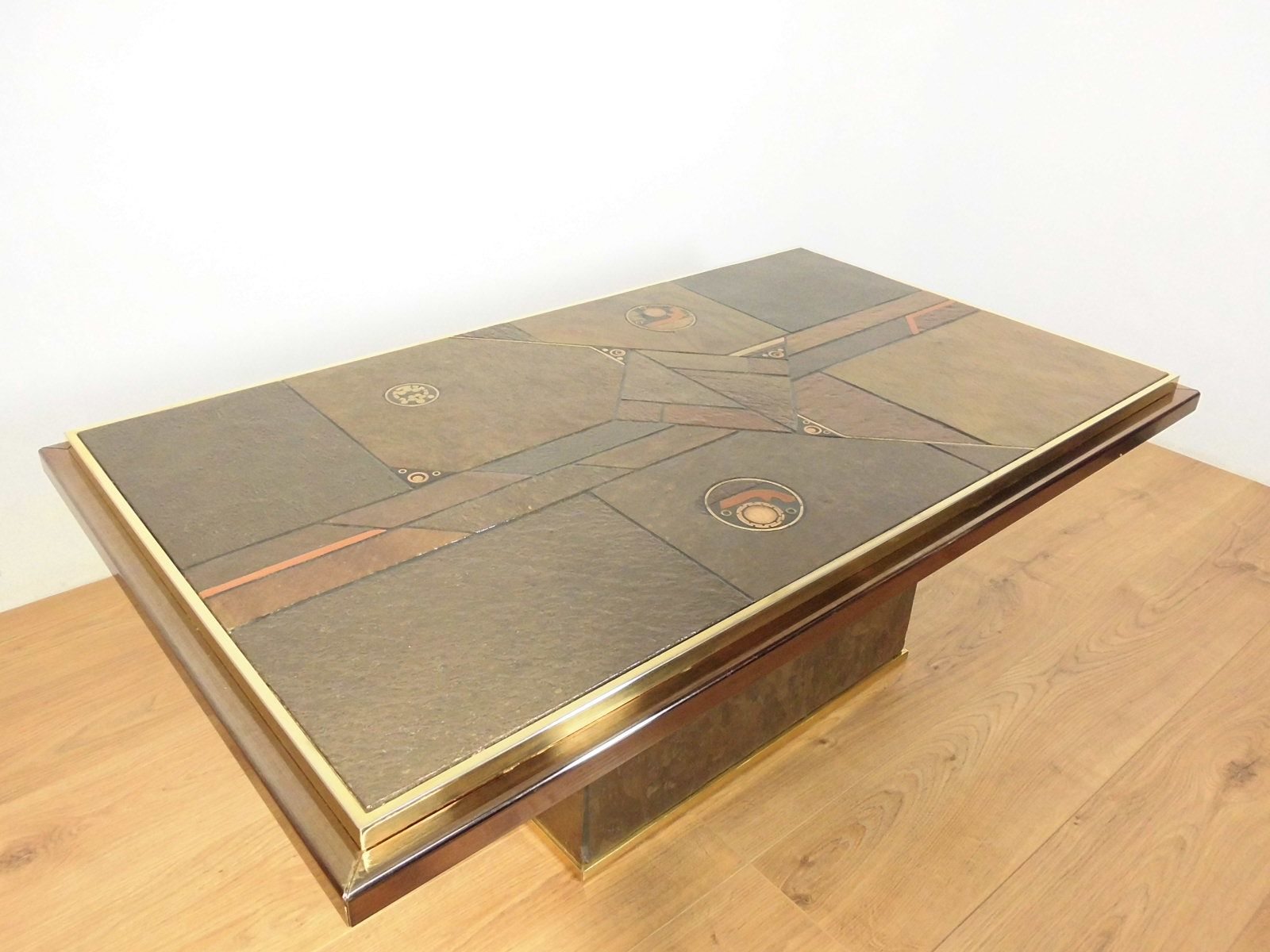 Stone and bronze coffee table by paul kingma 1970 for sale at pamono price 399000 regular price 620000 geotapseo Image collections