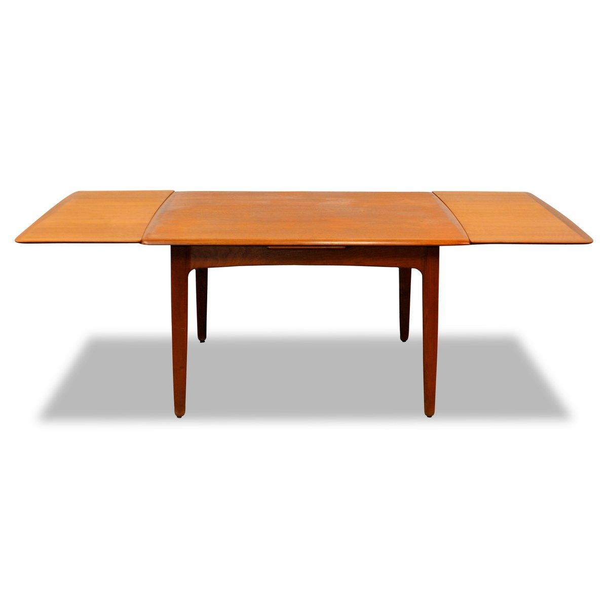 ausziehbarer teakholz esstisch von svend aage madsen f r k knudsen 1950er bei pamono kaufen. Black Bedroom Furniture Sets. Home Design Ideas