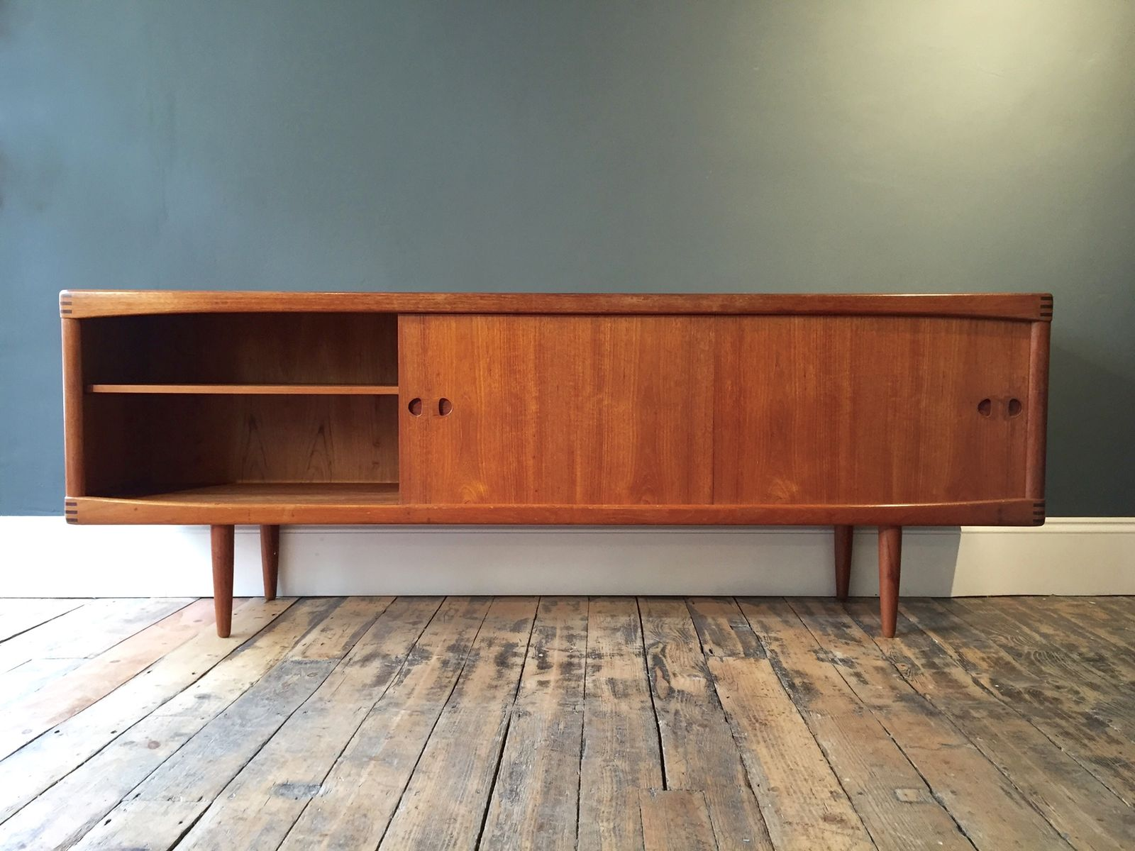 teak sideboard by h w klein for bramin 1960s for sale at. Black Bedroom Furniture Sets. Home Design Ideas
