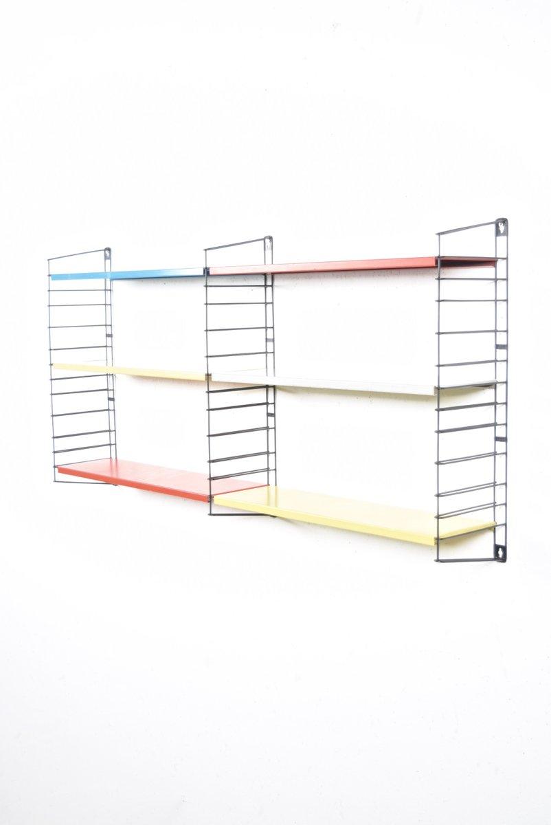 wandregal in blau rot grau von d dekker f r tomado bei. Black Bedroom Furniture Sets. Home Design Ideas