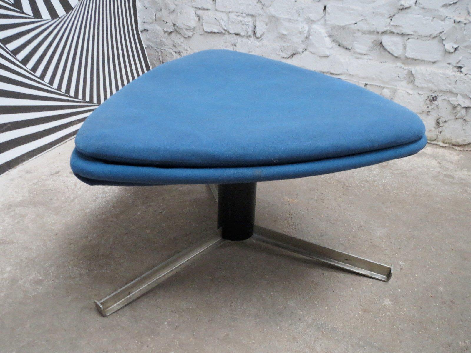 Space Age Furniture Vintage Space Age Freeform Triangular Tripod Ottoman From Steiner