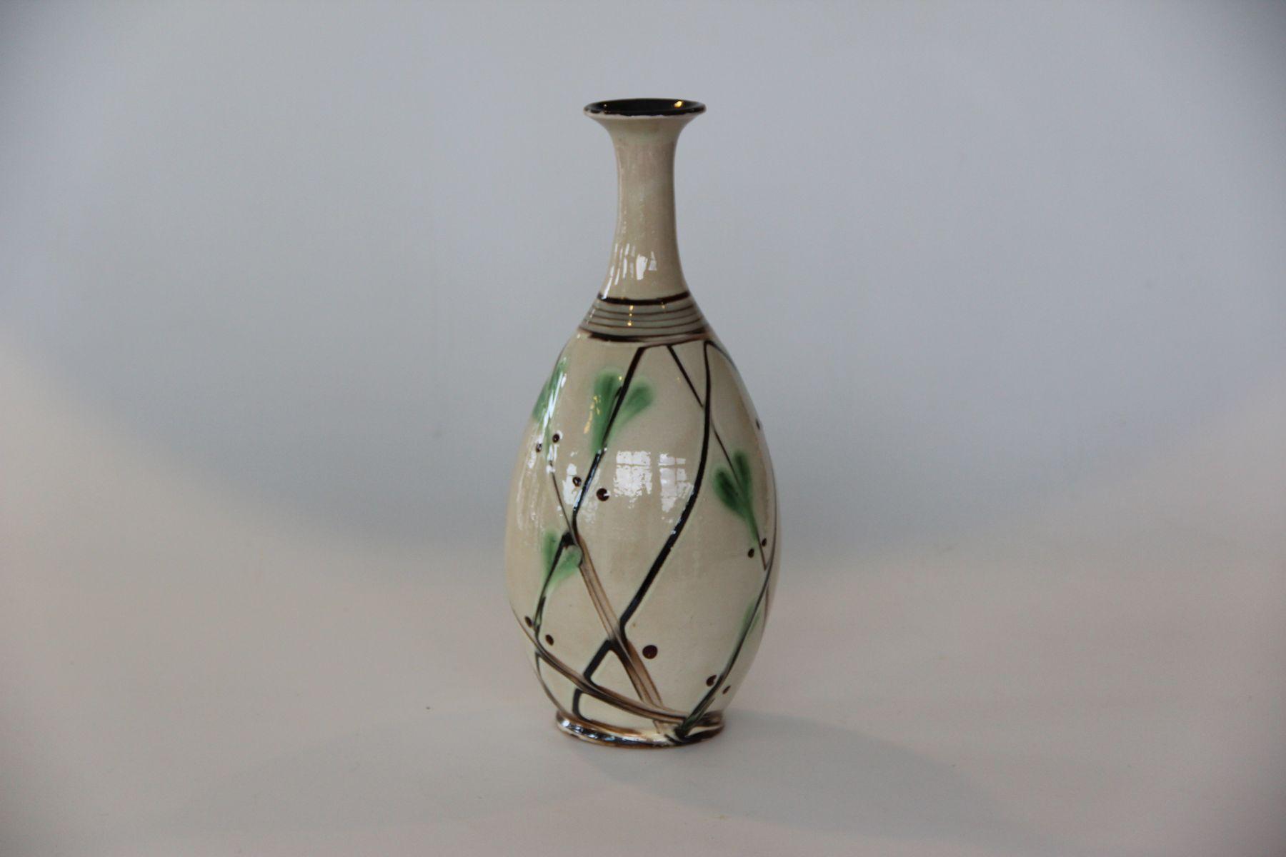 vintage danish slim neck ceramic vase from k hler for sale at pamono. Black Bedroom Furniture Sets. Home Design Ideas