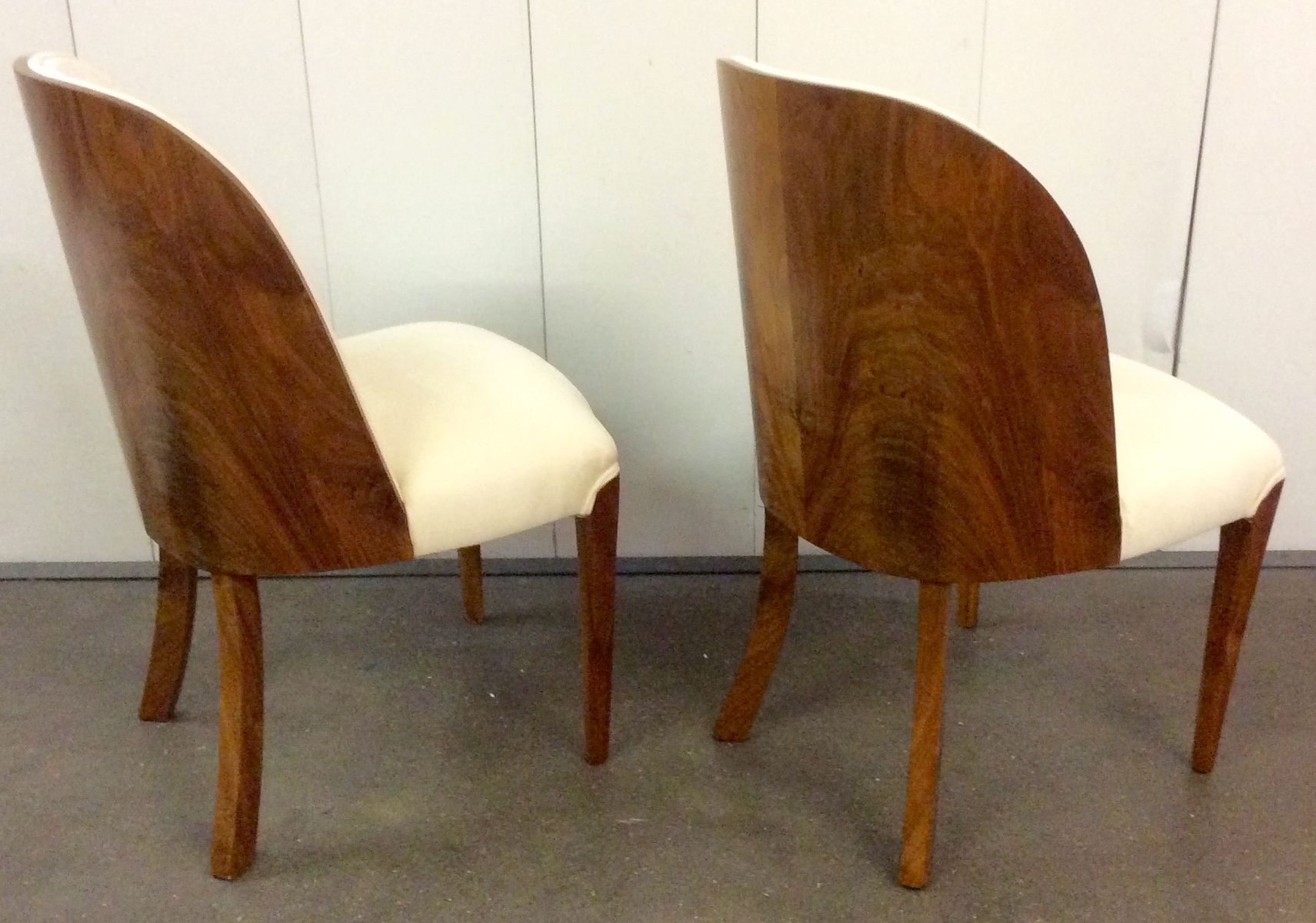 Art Deco Walnut Tub Chairs by Harry and Lou Epstein 1930s Set of