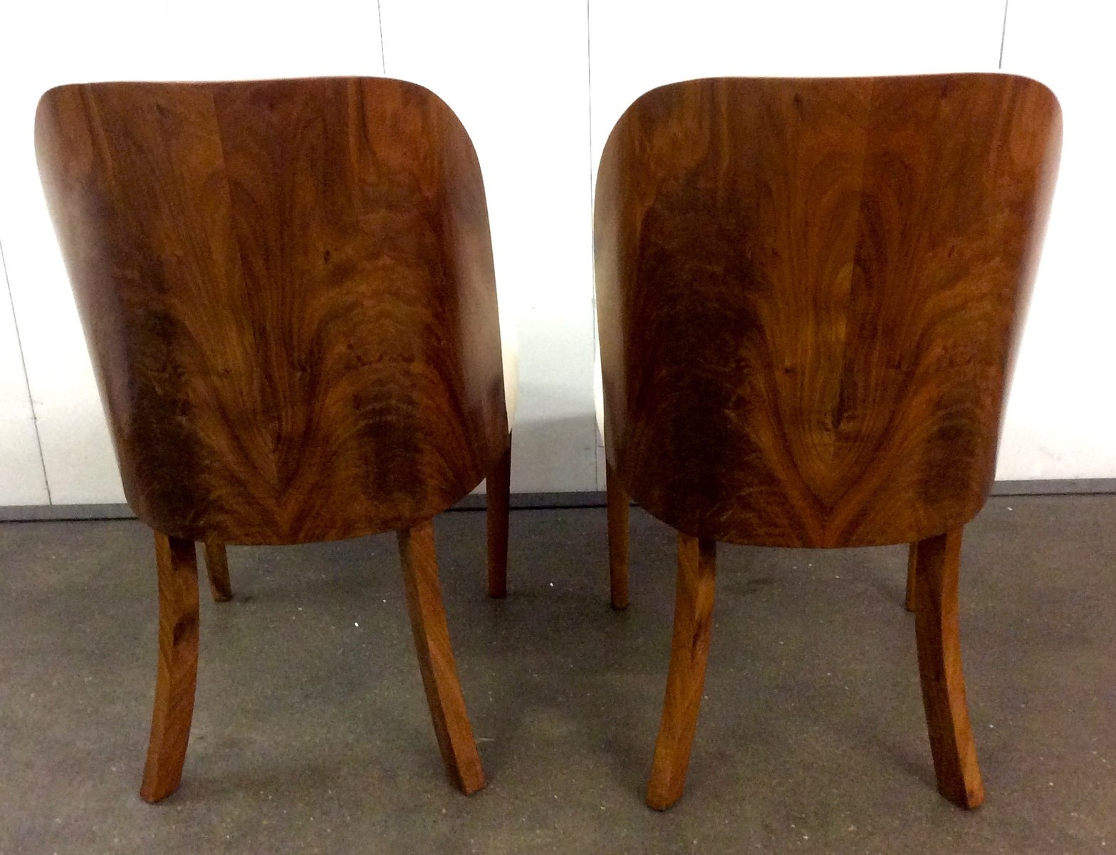 art deco walnut tub chairs by harry and lou epstein s set of  - art deco walnut tub chairs by harry and lou epstein s set of