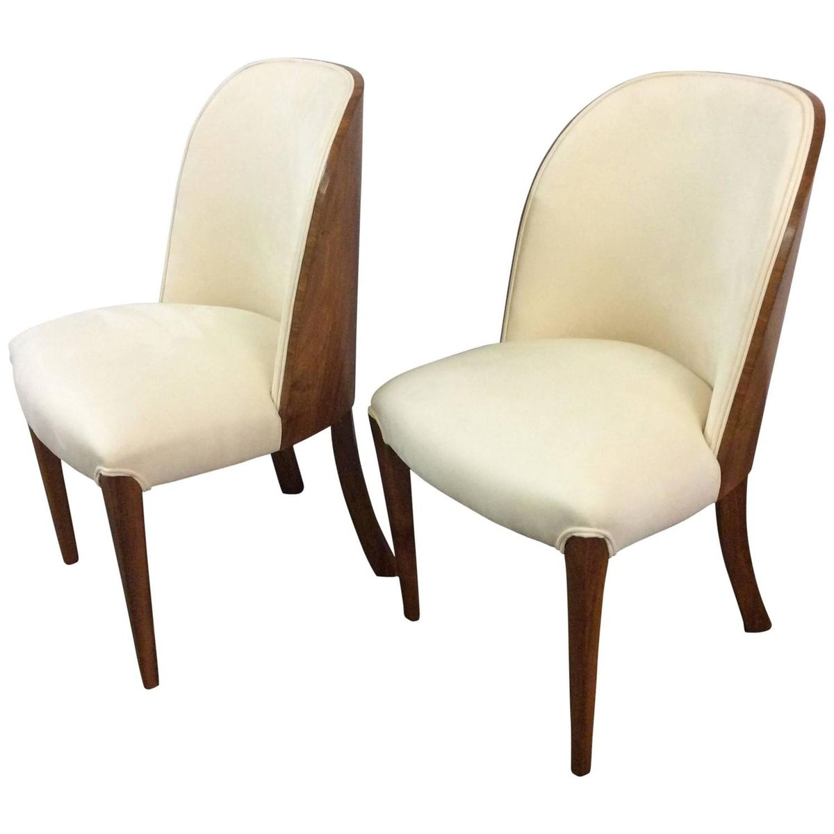Art deco walnut tub chairs by harry and lou epstein 1930s set of 2 for sale at pamono - Epstein art deco furniture ...