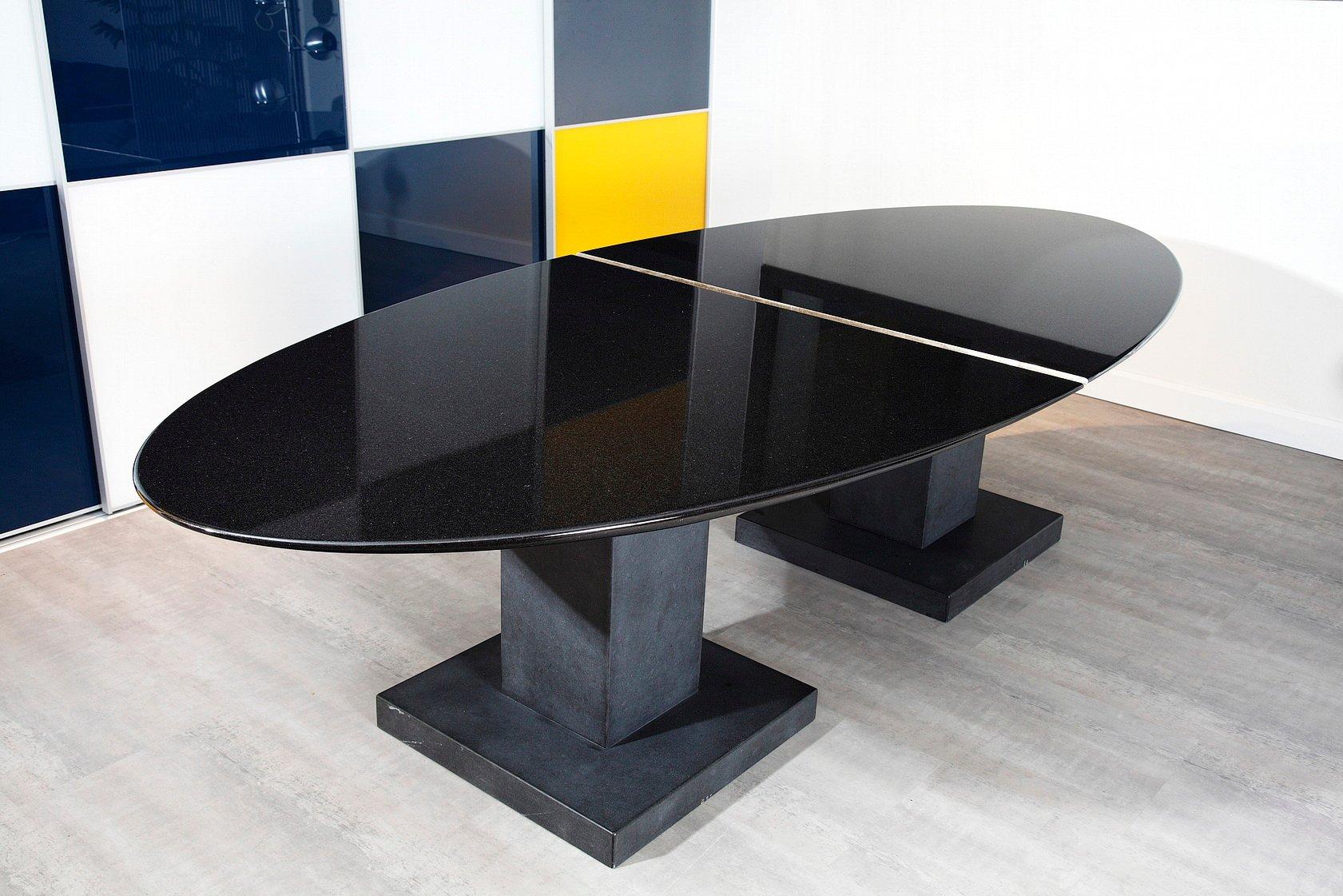 schwarzer granit esstisch von michael prentice bei pamono kaufen, Esstisch ideennn