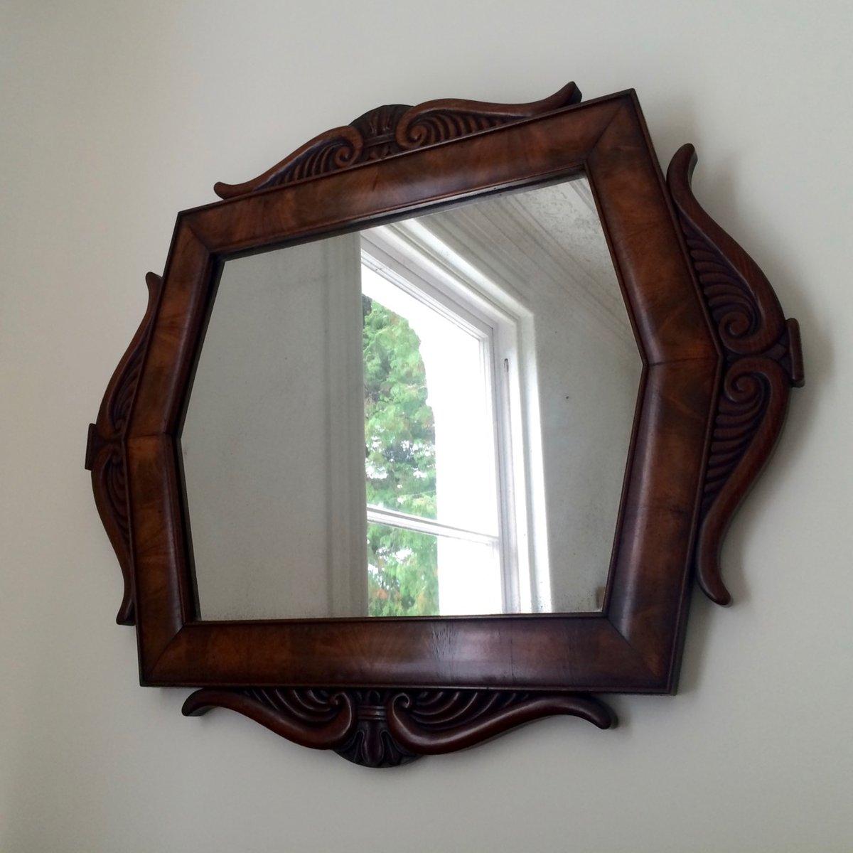 Miroir en acajou scandinavie 1860s en vente sur pamono for Miroir acajou
