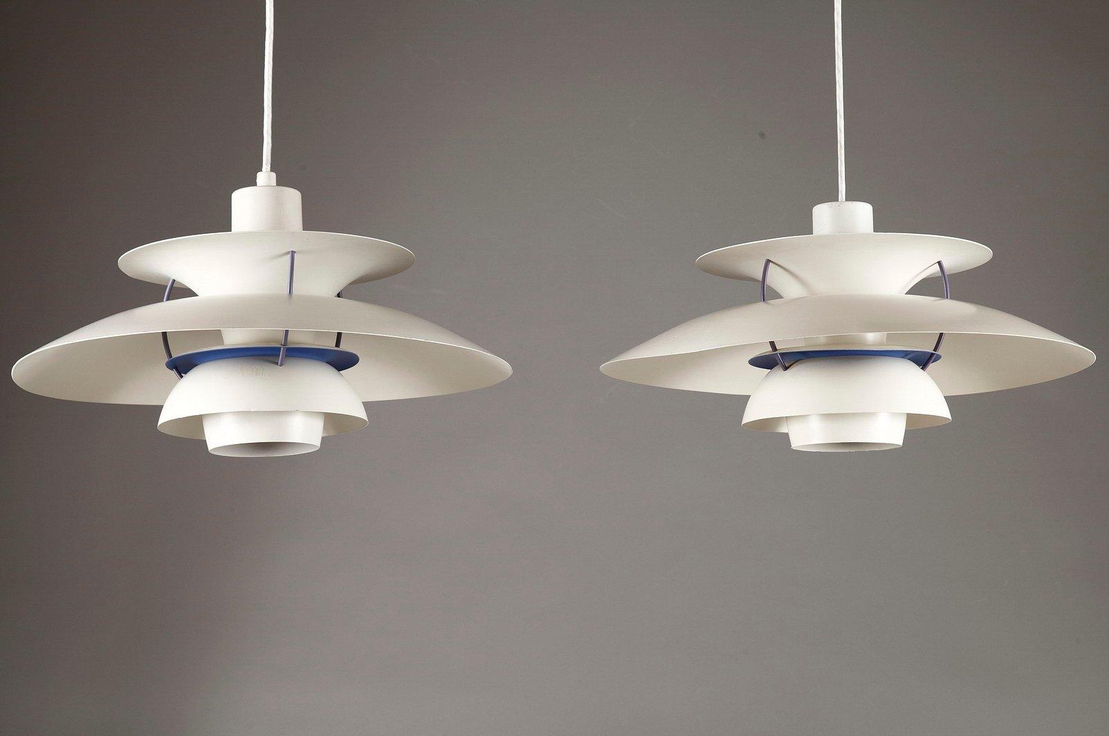 lampe suspension ph 5 par poul henningsen pour louis poulsen en vente sur pamono. Black Bedroom Furniture Sets. Home Design Ideas