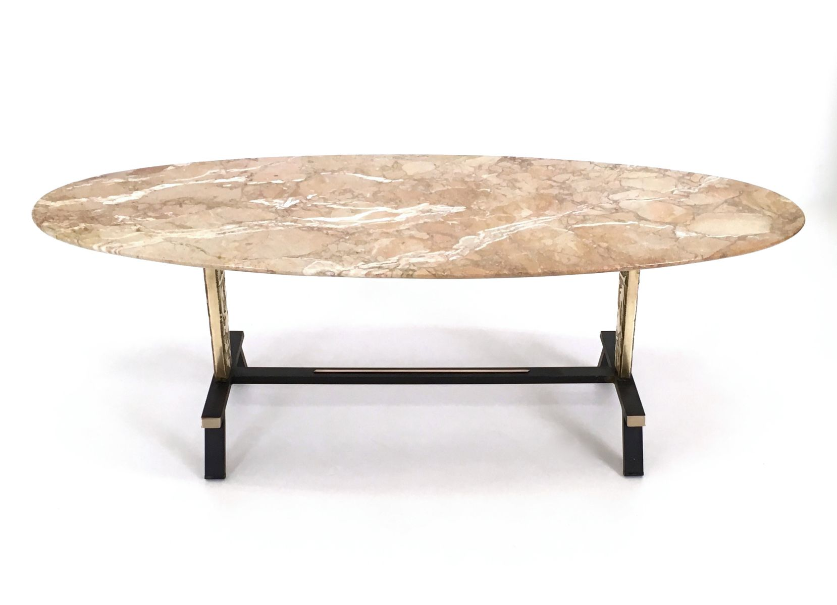 Pink Marble Coffee Table 1950s for sale at Pamono