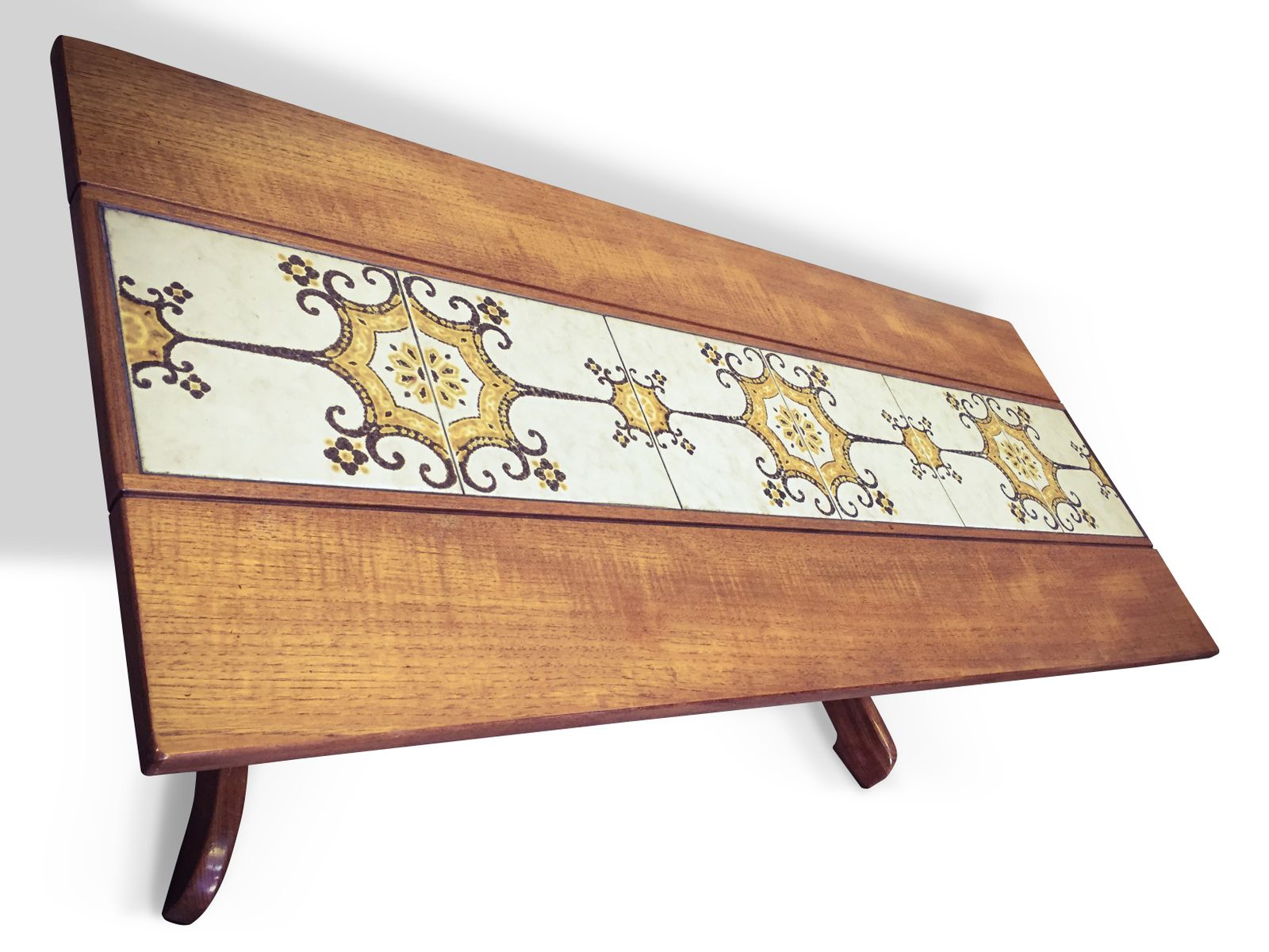Mid Century Teak Tiled Coffee Table From G Plan 1960s For