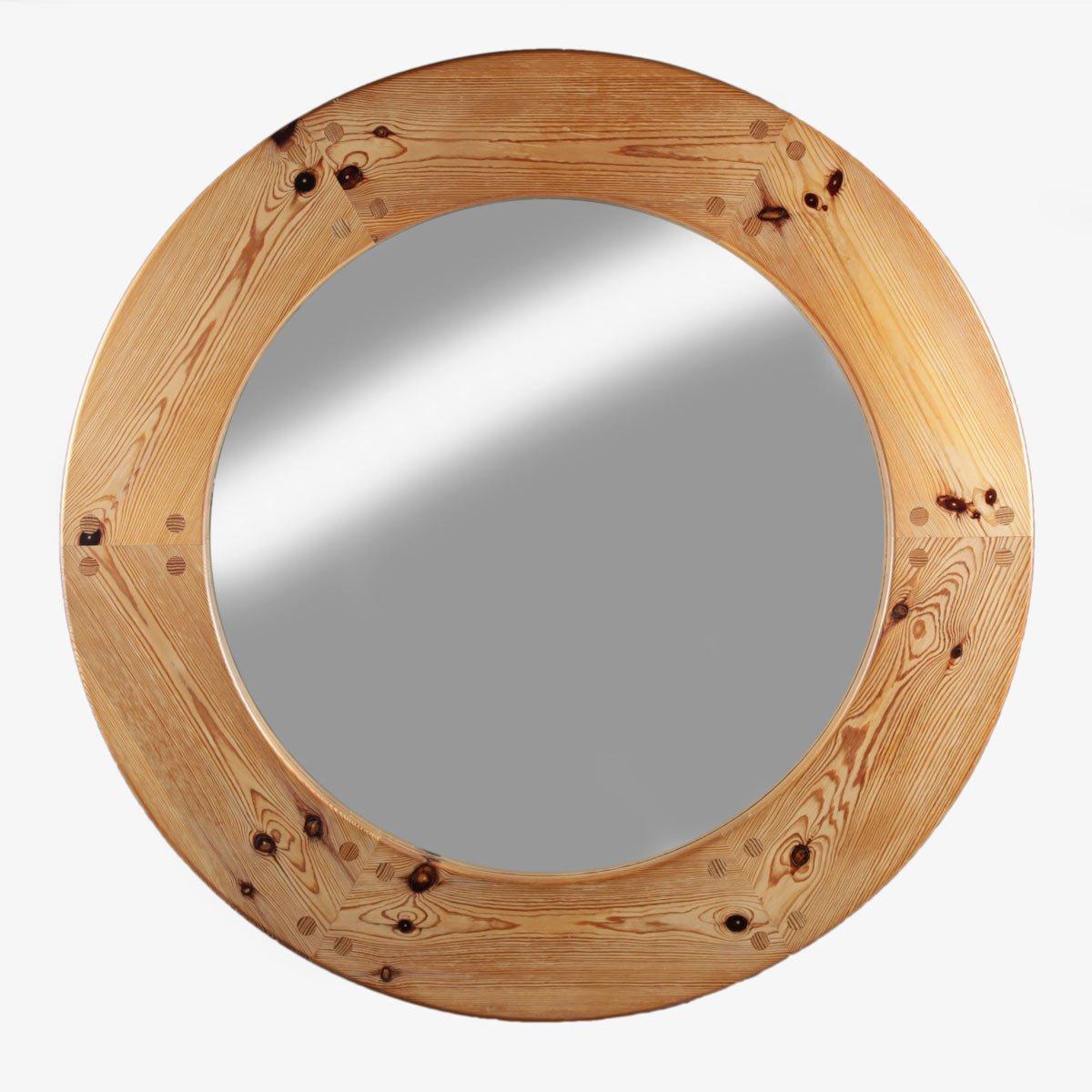 gro er schwedischer spiegel mit rahmen aus kiefernholz 1960er bei pamono kaufen. Black Bedroom Furniture Sets. Home Design Ideas