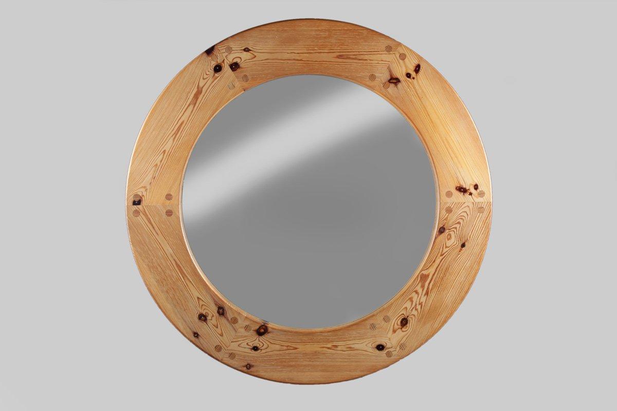 gro er schwedischer spiegel mit rahmen aus kiefernholz. Black Bedroom Furniture Sets. Home Design Ideas