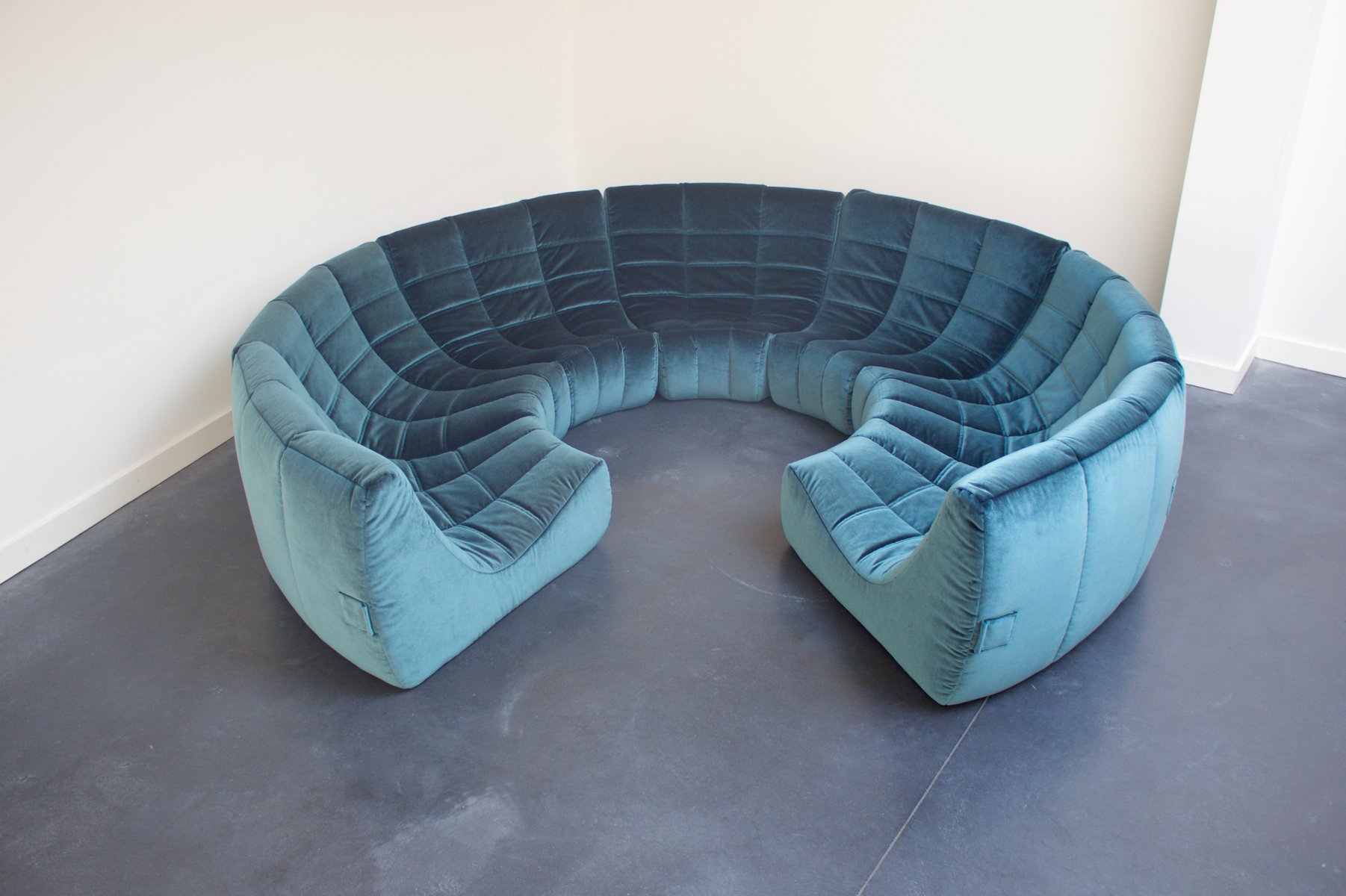 Gilda Circle Sofa By Michel Ducaroy For Roset 1972 For