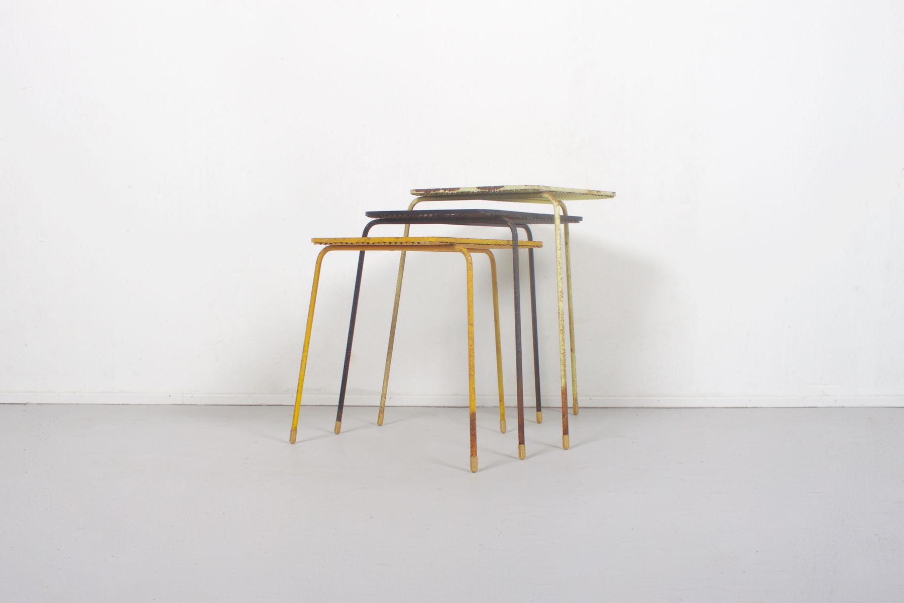 soumba nesting tables by mathieu mat got 1950s for sale at pamono. Black Bedroom Furniture Sets. Home Design Ideas