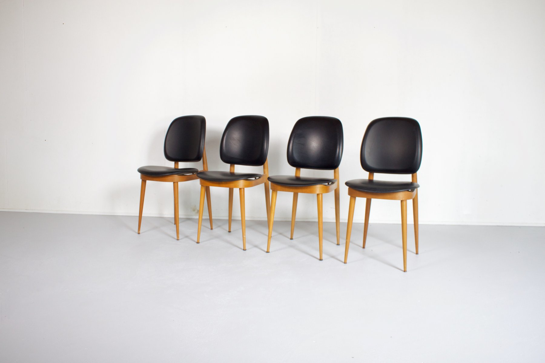 French Side Chairs by Pierre Guariche for L´Espace Le Corbusier