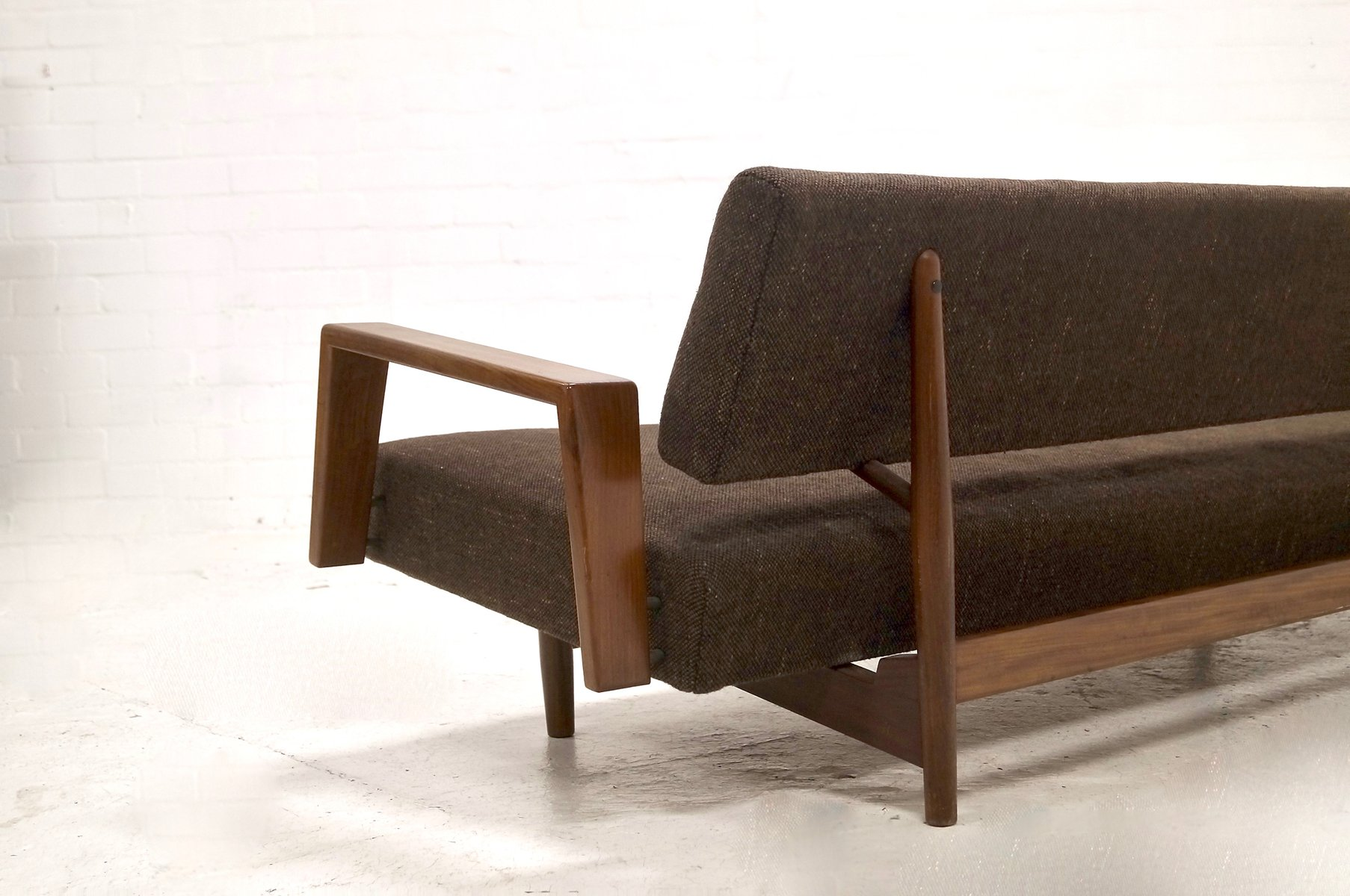 Mid century doublet teak daybed sofa by rob parry for for Mid century daybed sofa