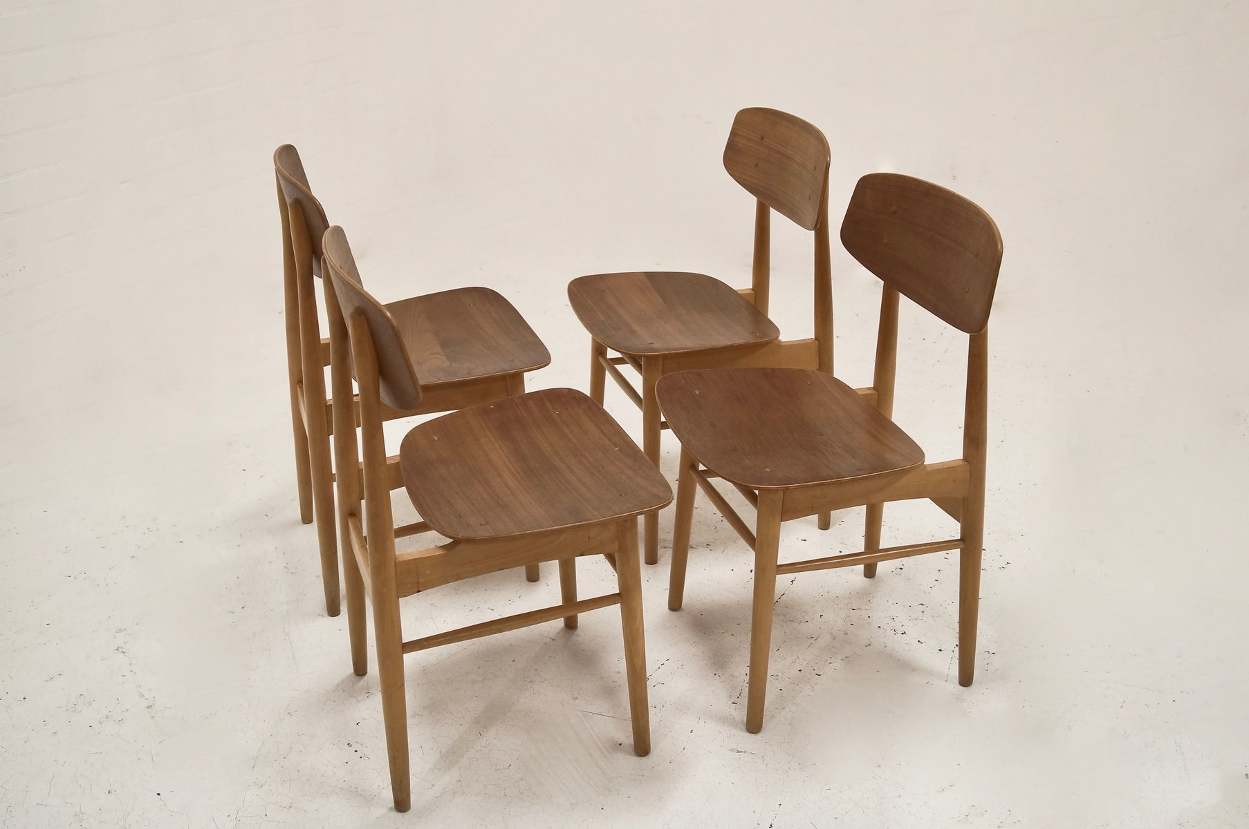 ^ Mid-entury Modern Danish Beech and eak Plywood hairs, 1950s ...