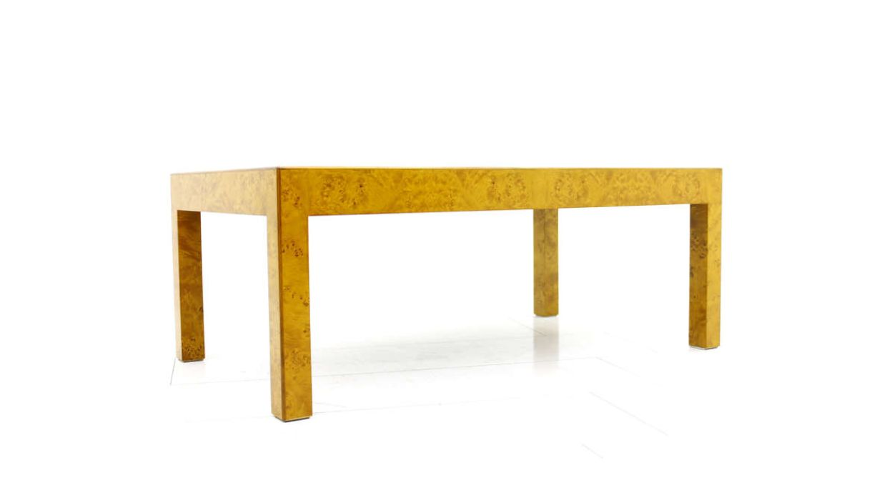 french burl wood coffee table, 1970s for sale at pamono