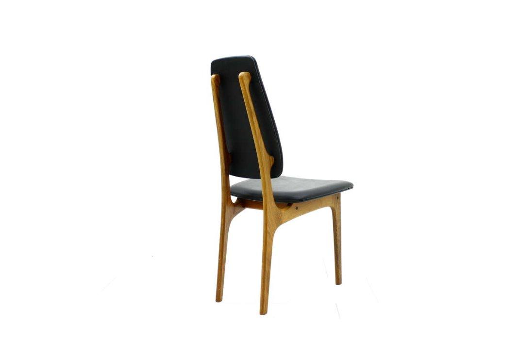 Palisander stuhl mit hoher r ckenlehne von erik buch f r o for Stuhl design buch