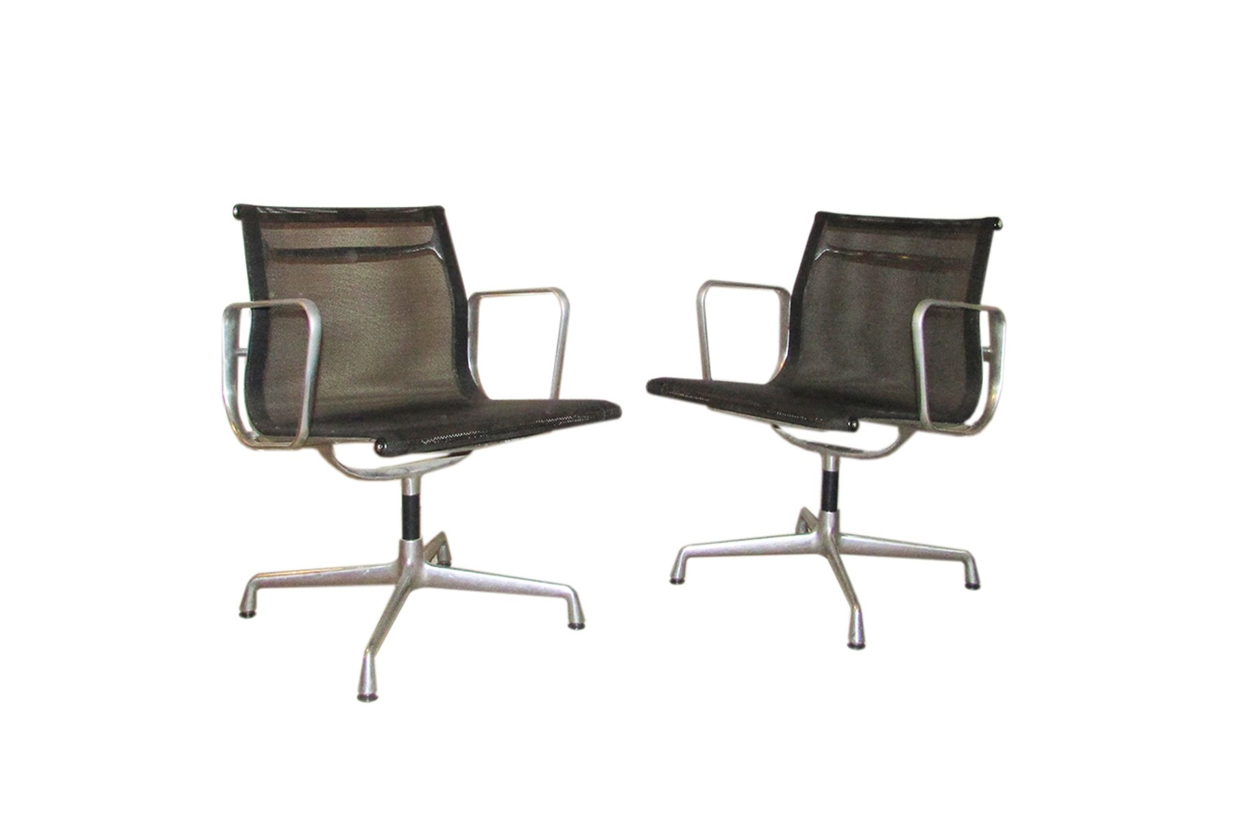 ea 107 aluminum chairs by charles ray eames for vitra 1982 set of 2 for sale at pamono. Black Bedroom Furniture Sets. Home Design Ideas